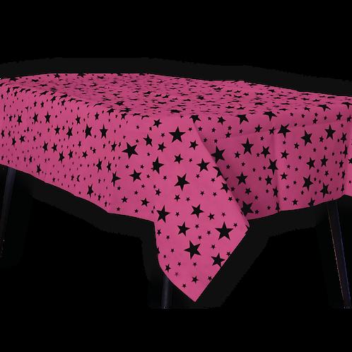 Mantel Estandar Fucsia Estrella Negra