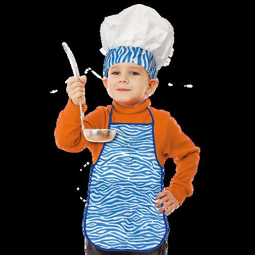Set de Cocinero Niño Animal Azul