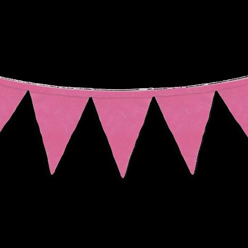 Banderin Liso Rosa x5
