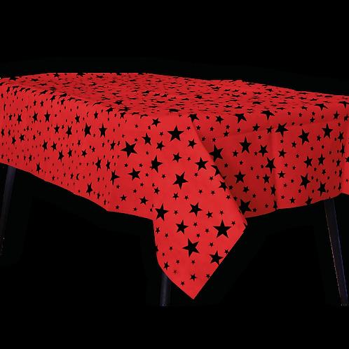 Mantel Estandar Rojo Estrella Negra