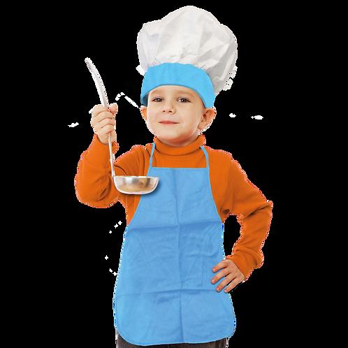 Set de Cocinero Niño Liso Celeste
