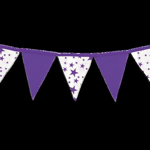 Banderin Estrellas Violeta x5