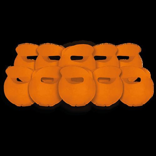 Bolsita Redonda Lisa Naranja x10