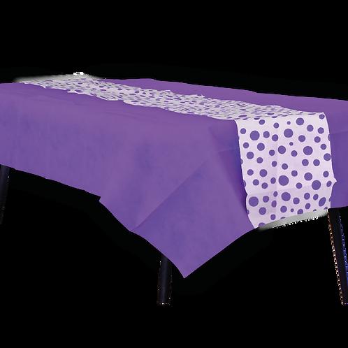Mantel Violeta con Camino Lunares Violeta