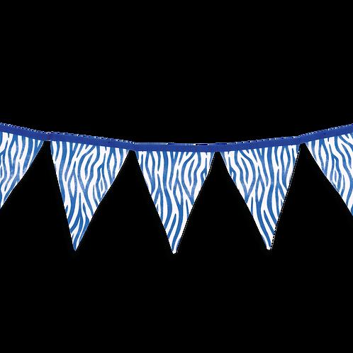 Banderin Animal Print Azul x5