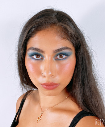 Smokey blue eyes  Stunning Asha (@ashadobson)   Project: Norah Lewis (@norahlewisagency)
