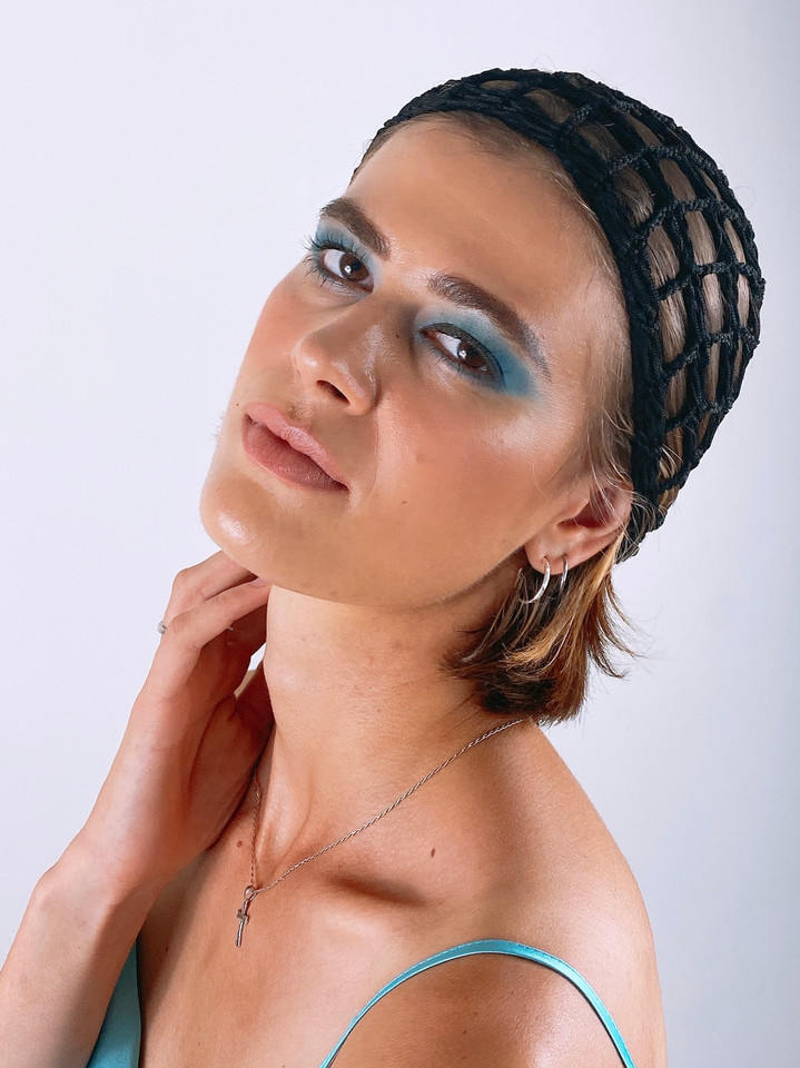 Soft romantic blue makeup  Gorgeous Eliska (@kosmatel)  Project: Norah Lewis (@norahlewisagency)