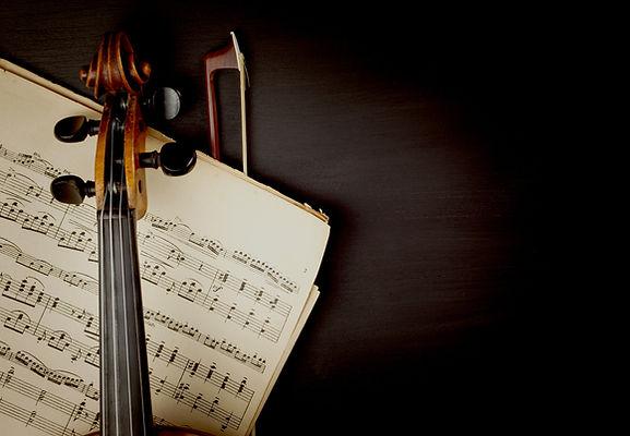 Viool op bladmuziek