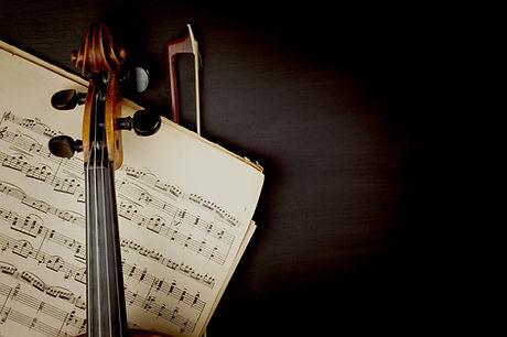 시트 음악을 통해 바이올린