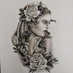 Black & Grey Gypsy Painting