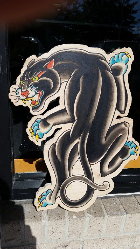 Wood Cut Panther