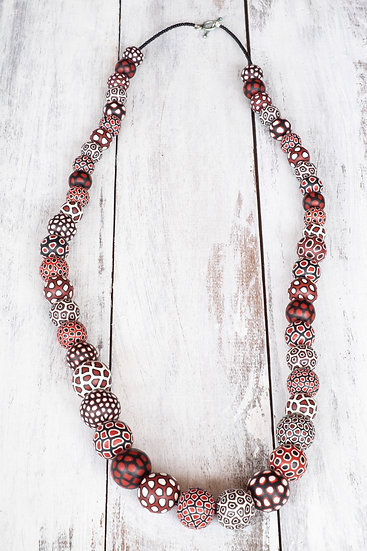 Samunnat Bindu long mala: Black/ White/ Red