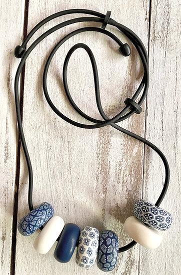 7 Bead Samunnat Adjustable Rondelle Necklace
