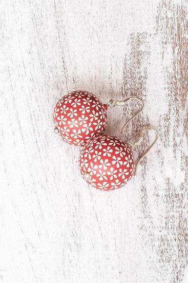 """Samunnat Single bead earrings: """"Bindu """" style"""