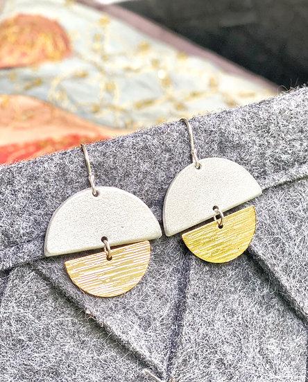 LOVEbomb Disc & 18k Gold Plated Earrings