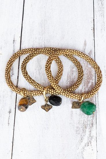 Beads4Life Brass-Coloured Bracelets