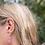 """Thumbnail: Samunnat small triangle (flat) earrings """"Bullseye Design"""""""