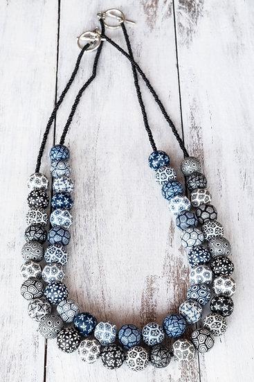 "Samunnat small bead ""Bindu Traditional"" style necklace"