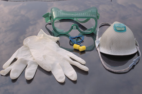 Protection gear, various types