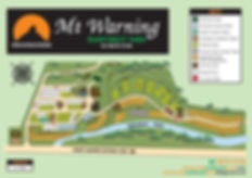 Mt Warning Rainforest Park Map, find cabins, campsites, caravan sites, motorhome sites, dog friendly campsites nsw