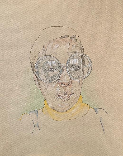 Mrs Turner - 30x23cm - pencil on pastel