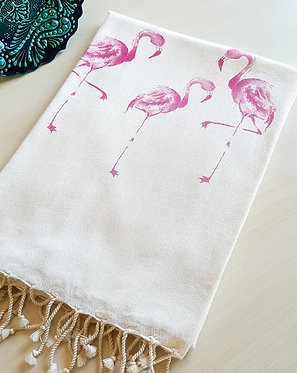 Lightweight Bamboo Bath/Beach/Fitness/Spa/Yoga Towel, 85x160 cm, (Flamingos)