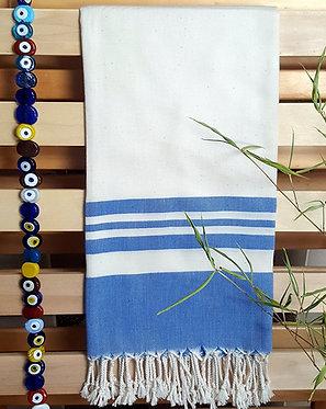 Bamboo Peshtemal Towel, 85x175cm (French Blue)