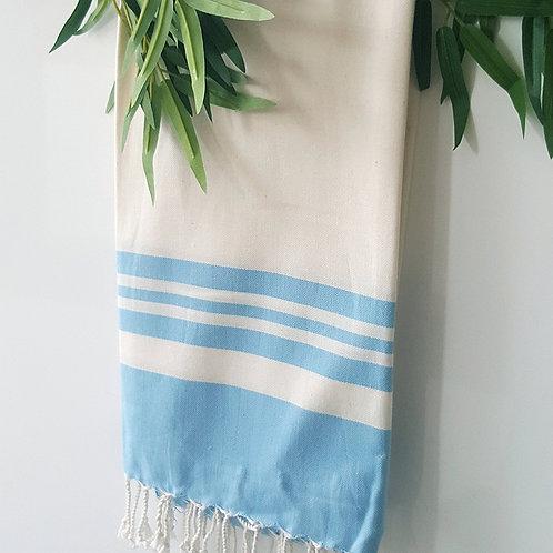 Bamboo Peshtemal Towel, 85x175cm (Baby Blue)