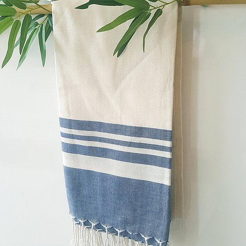 Bamboo Peshtemal Towel, 85x175cm (Navy Blue)