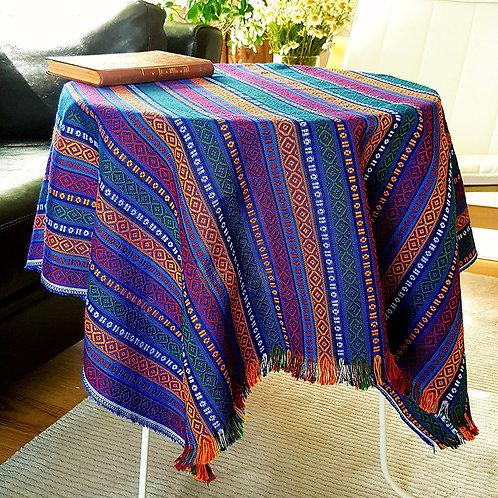 Ethnic Pattern Coffee Table Tablecloth (Deep Sea)