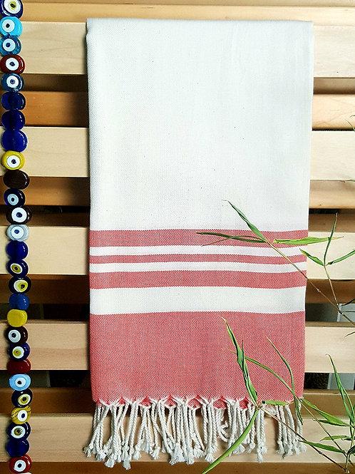 Bamboo Peshtemal Towel, 85x175cm (Salmon Pink)