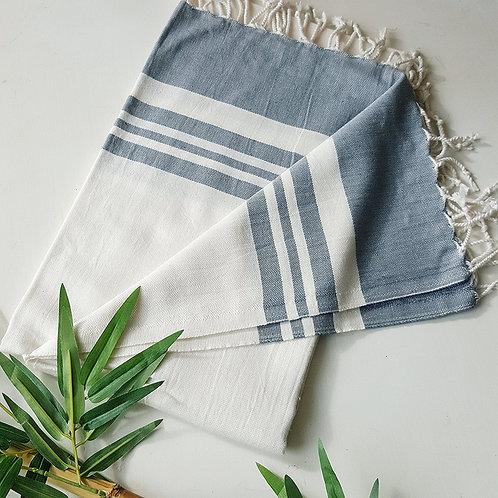 Bamboo Peshtemal Towel, 85x175cm (Light Grey)