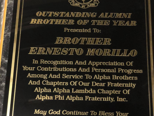 Bro. Ernesto Morillo is awarded Alumni Brother of the Year!