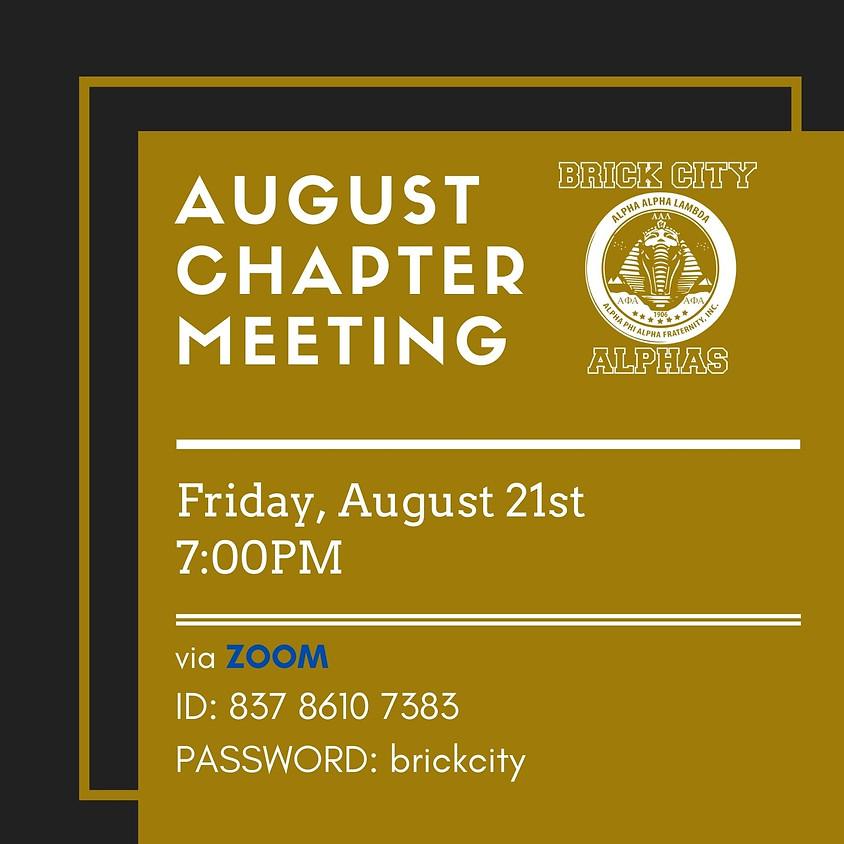 Alpha Alpha Lambda August 2020 Chapter Meeting