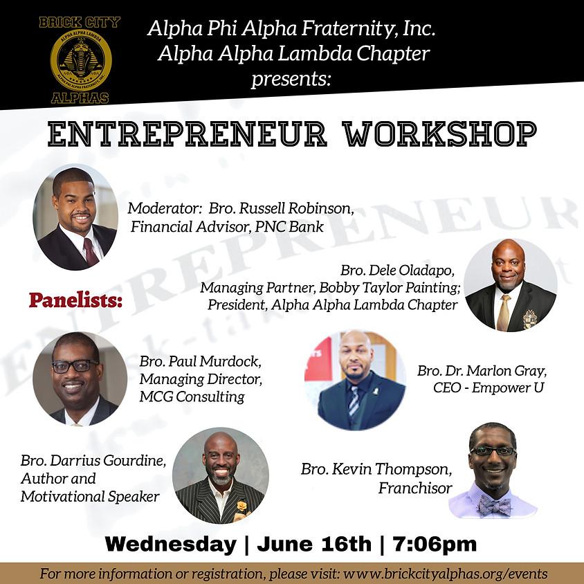 BROTHERHOOD WEEK: Entrepreneurs Workshop