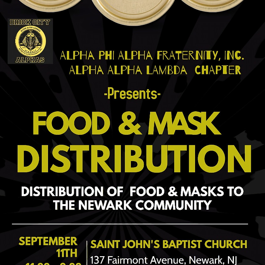 Community Service Project: Food Mask Distribution to the Newark Community