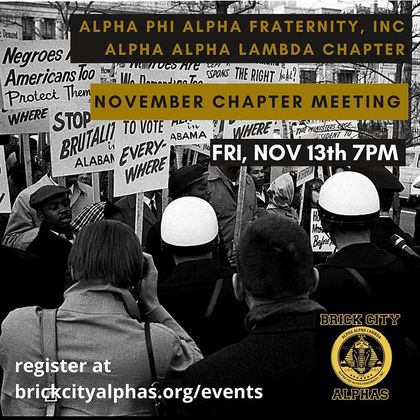 Alpha Alpha Lambda November 2020 Chapter Meeting