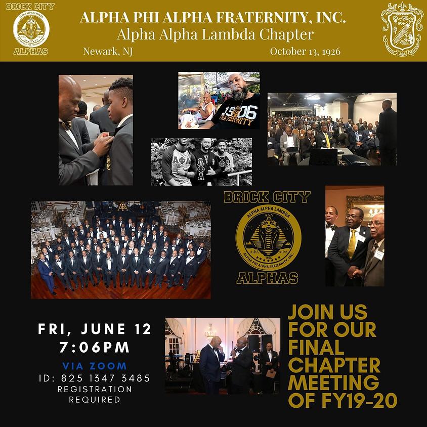 Alpha Alpha Lambda June 2020 Chapter Meeting (1)