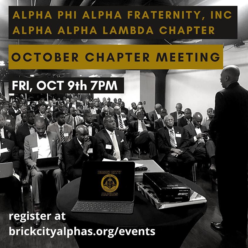 Alpha Alpha Lambda October 2020 Chapter Meeting