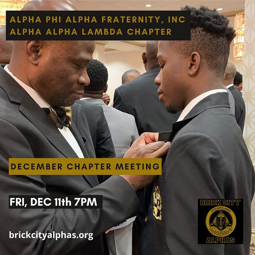 Alpha Alpha Lambda December 2020 Chapter Meeting