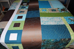 Custom Teal Pebble quilt