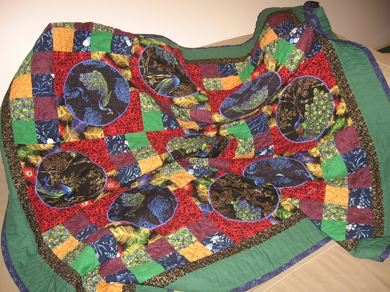 Peacock quilt 2012