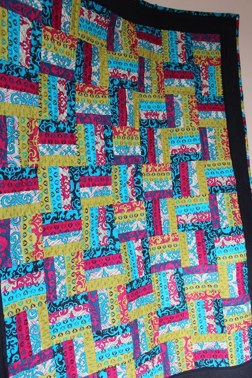 Teal-Pink_Blue Quilt