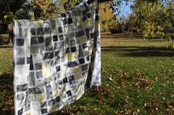 Yellow Grey White quilt 2014