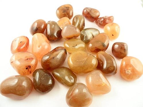 Tumbled Carnelian Agate Gemstones