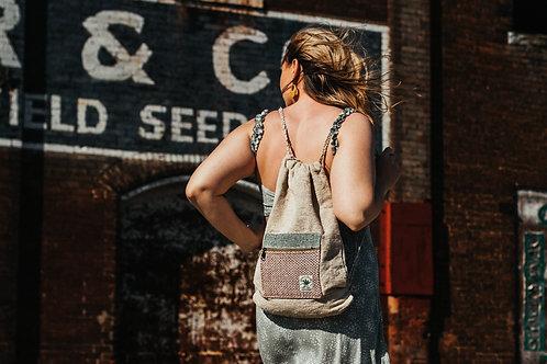 100% Hemp Drawstring Backpack