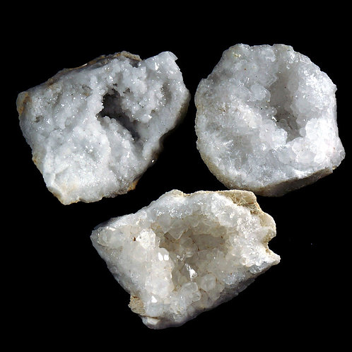 Snow Quartz Druzy Cluster Gemstone
