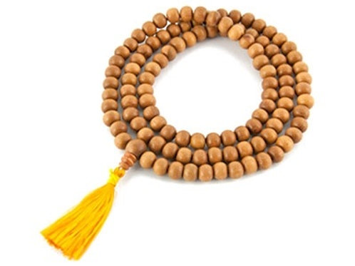 Handmade Tibetan Sandalwood Mala Bead Necklace