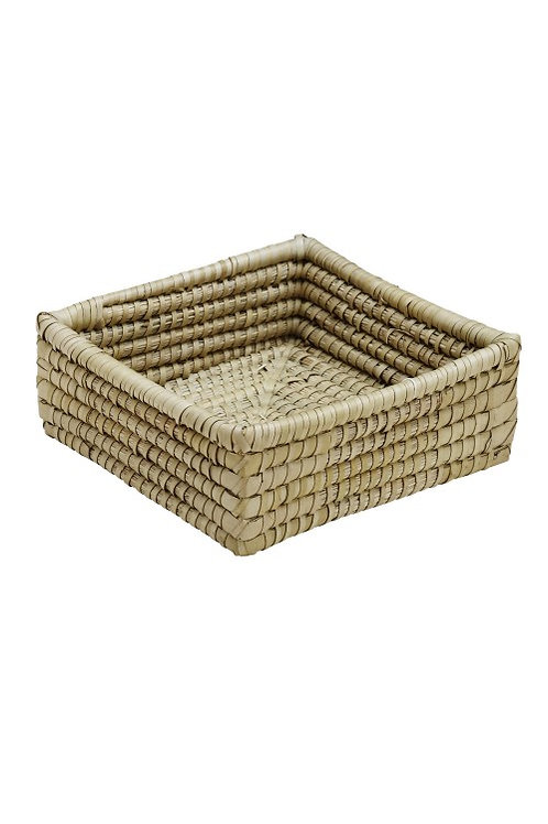"Square Kaisa Grass Basket 9"""