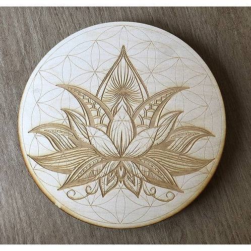 Flower of Life Lotus Crystal Grid - 4 inches